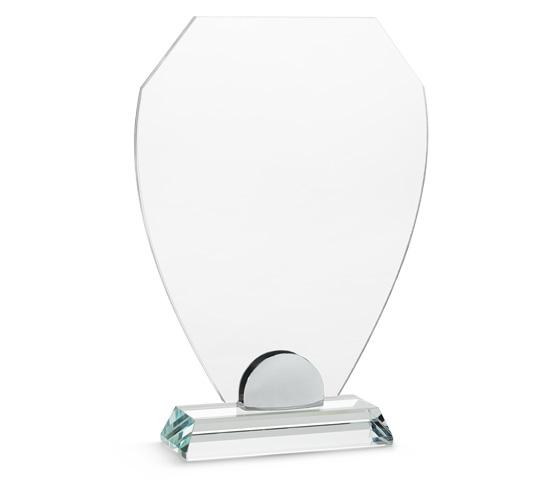 PLX 50 Targa in plexiglass trasparente con base in vetro