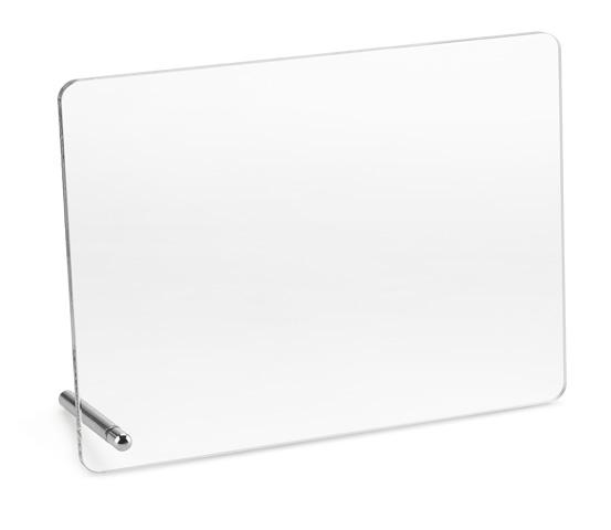 PLX 60 Transparent plexiglas plaque with aluminum support