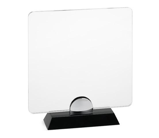 PLX 90 Transparent plexiglas plaque with wooden base